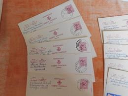Lot 10 Entiers Postaux Publibels, National Loterij, Pour Cachets  (U8) - Publibels
