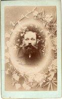 Kabinettfoto CDV Mit Bildnis Mann Mit Bart - Zum Andenken An Meinen Onkel Johann Pichler 1897 - Antiche (ante 1900)