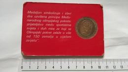 1984 OLYMPIC GAMES Coin XXIII Olympiad LOS ANGELES SARAJEVO Coin Medal Münze Medaille Pièce De Monnaie OLYMPIADE Médaill - Apparel, Souvenirs & Other