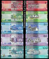 Gambia Set 5 10 20 50 100 Dalasis 2019 Pick New Design SC UNC - Gambia