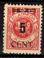 Memel (Klaipeda) 1923 Mi 188 * [260819VII] - Memelgebiet