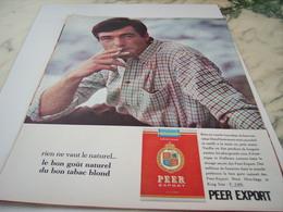 ANCIENNE PUBLICITE LE BON GOUT CIGARETTE PEER EXPORT 1964 - Tabac (objets Liés)