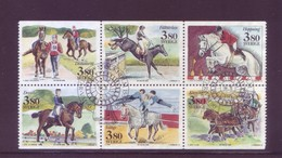 Svezia 1990 - Mondiali Di Sport Equestri, Blocco Di 6v Da Libretto. Usato - Svezia