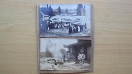 SICILIA 2 FOTO CON SCENE DI RAPPRESENTAZIONE DEL TEATRO GRECO DI SIRACUSA DEL 1912 - Foto