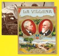 """""""LA VILLENA"""" Etiquette Boite De Cigares Chromo Gaufrée - Labels"""