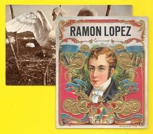 """""""RAMON LOPEZ"""" Etiquette Boite De Cigares Chromo Gaufrée - Labels"""