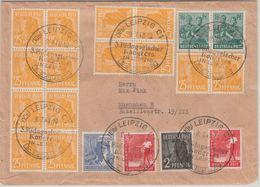 All.Bes./Währungsreform - 14x25 Pfg. Arbeiter U.a. Zehnfach Brief SST Leipzig  - Sin Clasificación