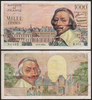1000 FRANCS 1956 FRANCE - Richelieu - P134a (B.253) - 1871-1952 Gedurende De XXste In Omloop