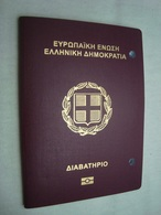 Greece Cancelled Biometric Passport Reisepass Passeport Of Young Woman With 2 Kazakhstan Visas - Documents Historiques