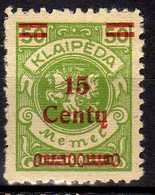 Memel / Klaipeda 1923 Mi 210 * [260819VII] - Memelgebiet