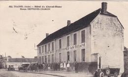 10. TRAINEL. CPA . ANIMATION. HOTEL DU CHEVAL BLANC. MAISON DESVIGNES. ANNEE 1930 + TEXTE - Sonstige Gemeinden