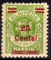 Memel / Klaipeda 1923 Mi 218 * [260819VII] - Memelgebiet