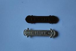 2 Barrettes De Décorations 1900 CHINE 1901 Et LEVANT - Francia
