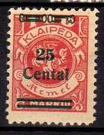 Memel / Klaipeda 1923 Mi 219 * [260819VII] - Memelgebiet