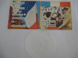 Général De Gaulle Texte De L'allocution Du 20 Décembre 1960 : FRANCE Et ALGERIE - Voir Les Détails Sur Les 2 Scans. - Vinyl-Schallplatten