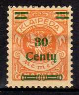 Memel / Klaipeda 1923 Mi 224 * [260819VII] - Memelgebiet