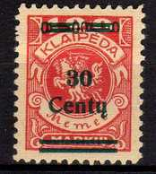 Memel / Klaipeda 1923 Mi 227 * [260819VII] - Memelgebiet