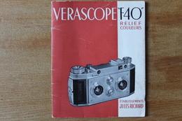 VERASCOPE F40 Relief Couleurs établissement Richard   Carnet Publicitaire - Cameras