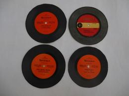 PUB MONSAVON : LOT De 4 Microssillon 45 Tours , Chaqu'un Une Chanson  - Voir Les Détails Sur Les 2 Scans. - Vinyl-Schallplatten
