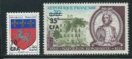REUNION CFA: **, N° YT 386 Et 387, TB - Reunion Island (1852-1975)