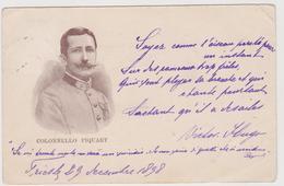 Colonnello Piquart   ( E L'Affare Dreyfus )  - F.p. - Fine '1800 - Hommes Politiques & Militaires