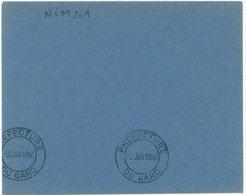 PRÉFECTURE DU GARD 1956 Rare Oblit. Krag Double Cercle Sans Ligne Sur Env. De Vote - Maschinenstempel (Werbestempel)