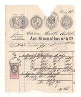 Teil Einer Alten Rechnung Aus 1877 ? Als Brief Versandt - Mit Aufgeklebter Stempelmarke - Siehe Bilder - Autriche