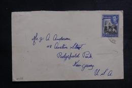 BERMUDES - Enveloppe Pour Les Etats Unis Avec Contrôle Postal, Affranchissement Plaisant - L 41232 - Bermudes