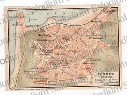 1910 - TERMINI IMERESE - SICILIA  - Mappa Cartina - Mappe