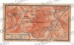 1910 - ROVINE DI SEGESTA  - SICILIA  - Mappa Cartina - Mappe