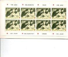 BELGIQUE 1963 EMISSION CENTENAIRE CROIX ROUGE(EN ENCART - Bélgica