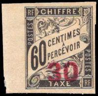 Indo-China 1905 30 On 60c Postage Due Unused No Gum. - Unused Stamps