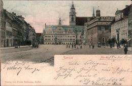 !  Alte Ansichtskarte Zerbst, Markt, 1900 - Zerbst