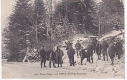 88  Vosges -  LE THOLY -  Route De Gérardmer - Militaires - Francia