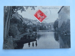 C. P. A. : 19 TULLE : Bords De La Corrèze, Animé, Barque, Timbre En 1908 - Tulle