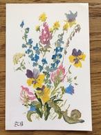 F. Bunn Mouth Painter, Flowers Blumen Bloemen Fleurs Flores Fiori, Unused - Schilderijen