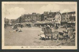 CPA  14  CALVADOS  -  VILLIERS-SUR-MER  La Plage - Villers Sur Mer