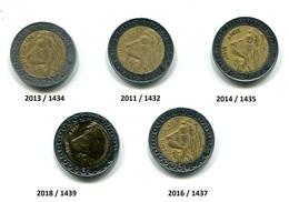 5 Pièces De 20 Dinars Avec Des Millésimes Différents - Algerije