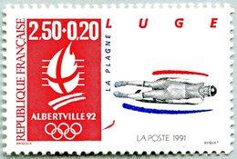 N° Yvert & Tellier 2679 - Timbre De France (Année 1991) - MNH - Albertville 92 - JO D'Hiver - Luge (La Plagne) - France