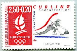 N° Yvert & Tellier 2680 - Timbre De France (Année 1991) - MNH - Albertville 92 - JO D'Hiver - Curling-Démonstration (Pra - France