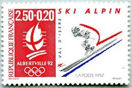 N° Yvert & Tellier 2710 - Timbre De France (Année 1991) - MNH - Albertville 92 - JO D'Hiver - Ski Alpin (Val D'Isère) - France