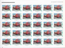 Feuille ID Timbres Auto Adhésifs TRAIN TOURISTIQUE De L'AUXOIS (21)  Lettre Verte 20 G - Feuilles Complètes