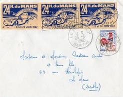 """"""" LES 24 HEURES DU MANS """" - 1962 - Marcophilie (Lettres)"""