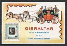 GIBRALTAR 1990 Bloc N° 14 ** Neufs MNH Superbes C 6 € Création Du Premier Timbre Sur T. Penny Black Chevaux Malle Poste - Gibraltar