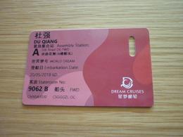 Dream Cruises WORLD DREAM Cruise Ship Cabin Magnetic Boarding Key Card (Silk Road) - Cartes D'hotel