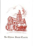 ENCART FDC 1995 LA CHASSE SAINT-TAURIN A EVREUX - 1990-1999