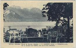 74   Annecy Hotel Regina  C Carret Prprietaire  De La Terrasse  De L'hotel - Annecy