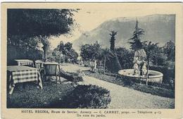 74   Annecy Hotel Regina  C Carret Prprietaire  Un Coin Du Jardin - Annecy