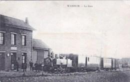 59 - WARHEM -  La Gare ( Train Vapeur En Gare ) - Frankrijk