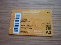 Norwegian Joy Cruise Ship Cabin Magnetic Boarding Key Card - Cartes D'hotel